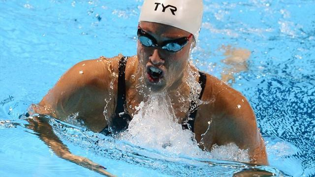 Swimming - Pedersen sets 200m breaststroke world record