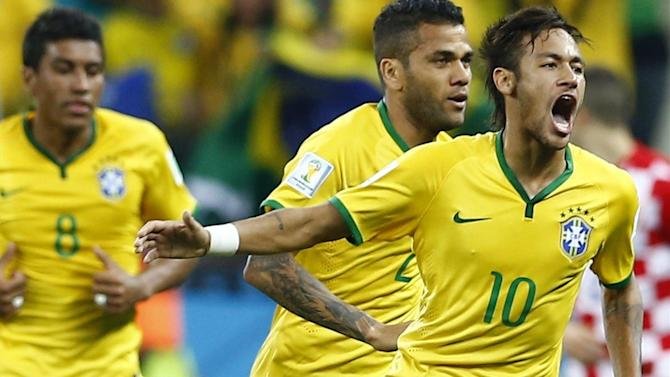 World Cup - Two-goal Neymar fires Brazil to controversial opening win