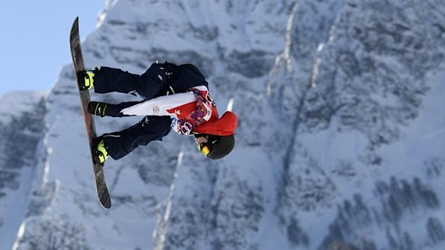 Britain's Jamie Nicholls performs a jump during the Sochi 2014 Olympics