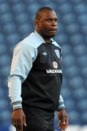 Noel Blake has hit back at claims that England players lack technical ability