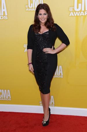 Hillary Scott of Lady Antebellum looks amazing in black dress with matching pumps at the 46th annual CMA Awards at the Bridgestone Arena on November 1, 2012 in Nashville, Tennessee -- Getty Images