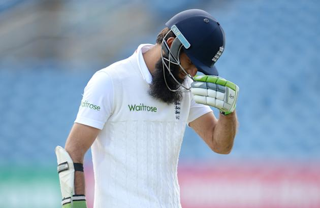 CRIC: England's Moeen Ali leaves the field