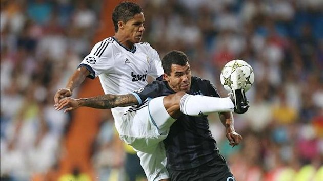 real madrid manchester city carlos tevez varane