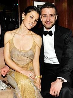 Jessica Biel Flashes Engagement Ring at SNL After Party