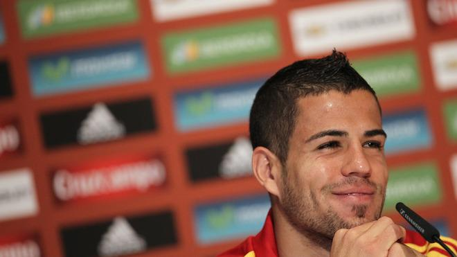 Spanish National Football Team Player Alvaro Dominguez Smiles AFP/Getty Images