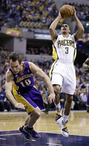 Bryant leaves early, but Lakers beat Pacers 99-93