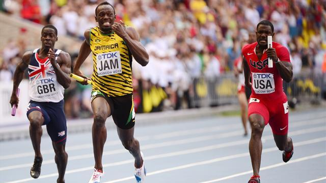 World Championships - Bolt seals Moscow hat-trick as Jamaica win relay