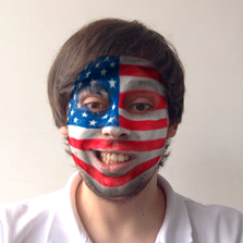 The flag face filter from MSQRD.
