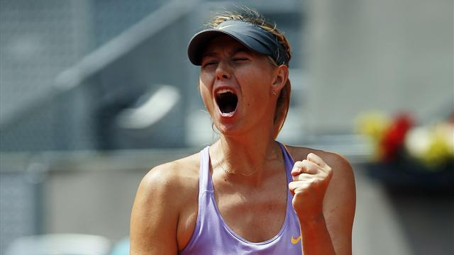 Tennis - Sharapova ousts Radwanska to claim Madrid final berth