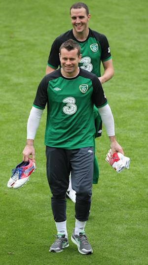 Shay Given trained with the Republic of Ireland on Friday