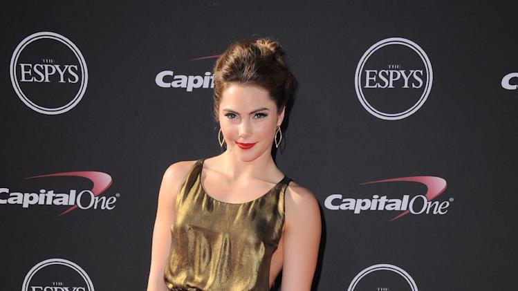 Gymnast McKayla Maroney arrives at the ESPY Awards on Wednesday, July 17, 2013, at Nokia Theater in Los Angeles. (Photo by Jordan Strauss/Invision/AP)