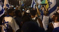 Far-right Israeli protesters gathered in Tel Aviv to chant slogans against Arab MK's and Gazans