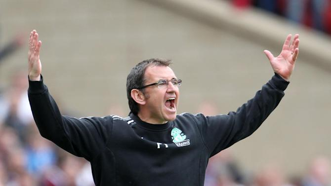 Hibs boss Pat Fenlon was happy to take three points against Kilmarnock
