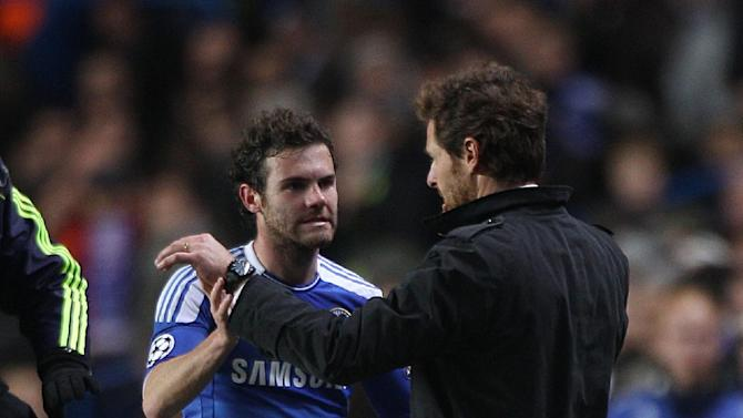 Juan Mata (left) and Andre Villas-Boas