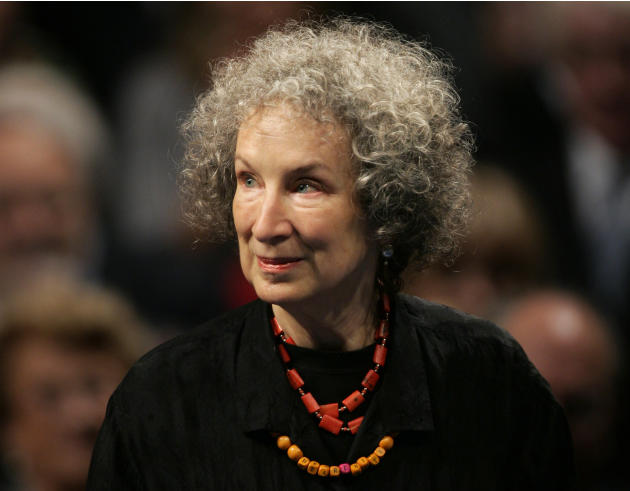 FILE - In this Oct. 24, 2008 file photo, Canadian writer Margaret Atwood arrives for the 2008 Prince of Asturias award ceremony in Oviedo, northern Spain. Atwood, has been named a foreign honorary mem