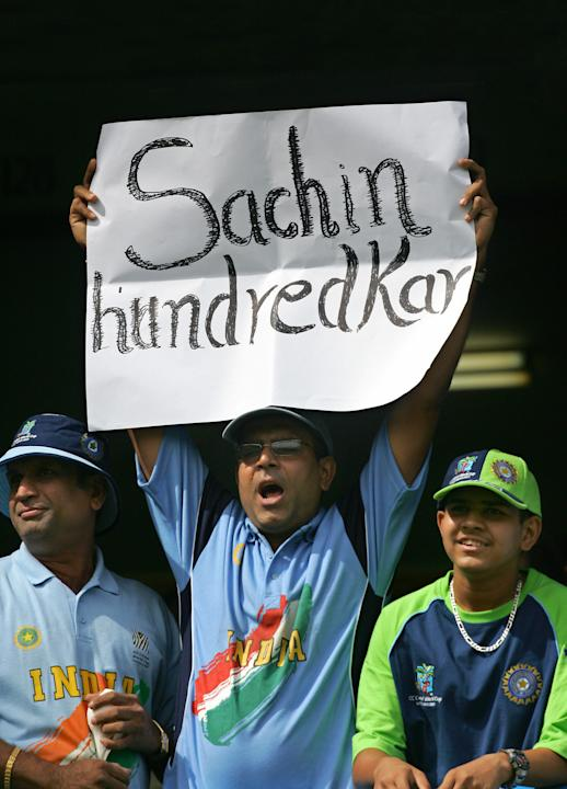 Indian cricket fans show their support f