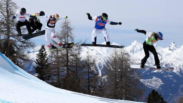 Snowboard - Canada win both team events in Veysonnaz