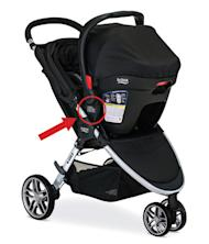 This image provided by the Consumer Product Safety Commission (CPSC) shows a Britax Stroller. The company is recalling more than 700,000 strollers, specifically recalling the Britax B-Agile and BOB Motion strollers, because the car seat component can unexpectedly disengage. (Britax/CPSC via AP)