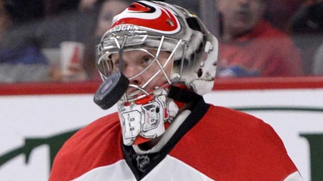 Ice Hockey - Khudobin stands firm in Hurricanes' win over Blues