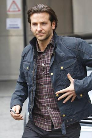 Bradley Cooper is spotted departing BBC Radio One on May 23, 2013 in London -- Getty Premium