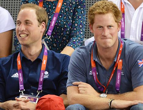 "Princes William, Harry ""Kept in the Dark"" About Queen Elizabeth's Olympic James Bond Stunt"