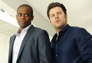 Dule Hill and James Roday | Photo Credits: Alan Zenuk/USA Network