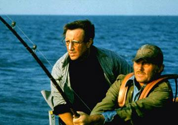 Quint ( Robert Shaw ) and Brody ( Roy Scheider ) in Universal Pictures' Jaws