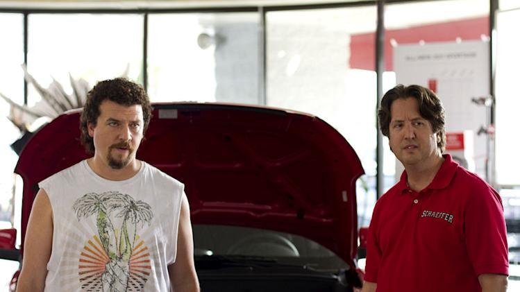 "Danny McBride as Kenny Powers and Steve Little as Stevie Janowski in ""Eastbound & Down."""
