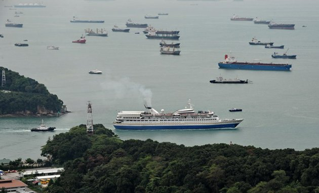 A Singaporean man has died after falling off a ship into the waters off East Coast. (AFP file photo)