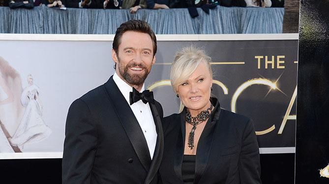85th Annual Academy Awards - Arrivals: Hugh Jackman and Deborra-Lee Furness