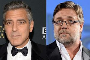 George Clooney Knocks Russell Crowe, Hollywood on Twitter