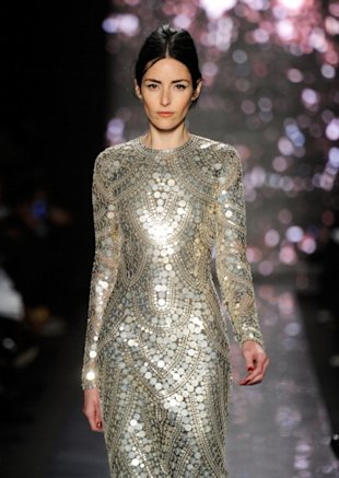 Intricate glistening gowns at Naeem Khan