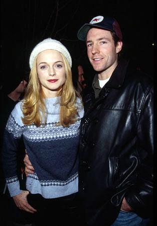"""Heather Graham, star of """"Committed,"""" with Edward Burns, director of """"She's The One"""" and """"The Brothers McMullen"""" Sundance Film Festival January 22, 2000 Jeff Vespa, Wireimage.com - Photo"""