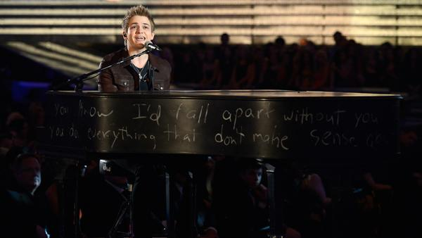 Hunter Hayes performs onstage at the 55th Annual GRAMMY Awards.