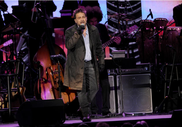 FILE - In this Nov. 19, 2014 file photo, Vicentico performs at the Latin Recording Academy Person of the Year Tribute honoring Joan Manuel Serrat at the Mandalay Bay Resort and Casino, in Las Vegas. H