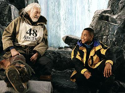 James Coburn and Cuba Gooding Jr. in Disney's Snow Dogs