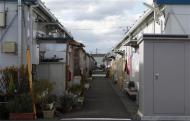 A view shows the Izumitamatsuyu temporary housing estate, where 200 former Tomioka town residents have evacuated to, in Iwaki, Fukushima prefecture November 8, 2013. REUTERS/Sophie Knight
