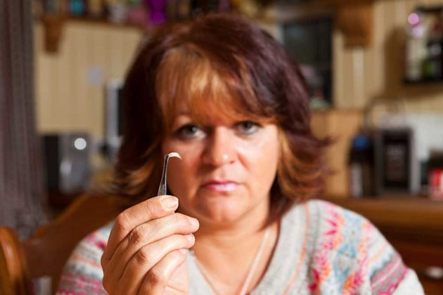Tracy Arnold, 46, from Wisbech, Cambridgeshire who founda human toe nail in her Aldi food