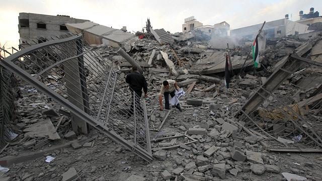 Israel Targets Hamas Headquarters