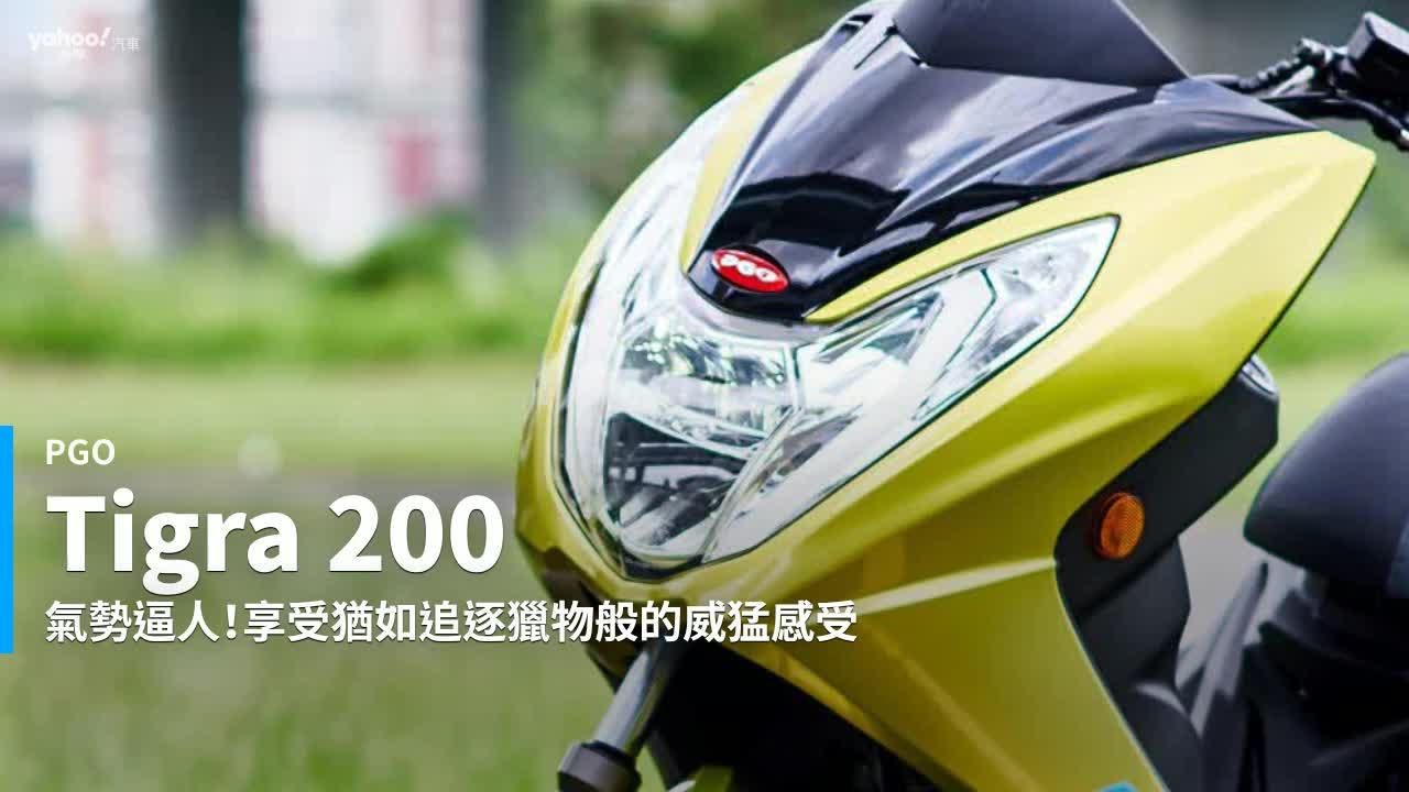 【新車速報】絕非善類的純種戰虎!2019 PGO Tigra 200新北試駕!