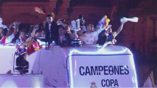 Real Madrid celebrate Copa del Rey success