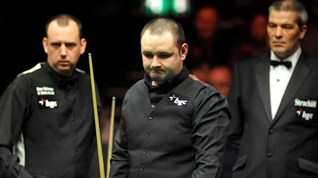 mark williams, stephen maguire and jan verhaas in the 2012 masters