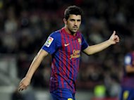 Barcelona and Spain striker David Villa, pictured in 2011, has been given the all-clear to resume full training, although he is still some way short of reaching full match fitness, his club announced on Tuesday