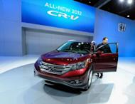 The new Honda 2012 CR-V is unveiled at the LA Auto Show on November 16, 2011 in Los Angeles, California. Honda will recall some 268,000 CR-V sport utility vehicles sold in the United States due to the risk of power window switches catching fire in case of water penetration, a report said