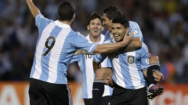 South American Football - Aguero out of Argentina friendly against Italy