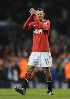 Manchester United's Ryan Giggs after the final whistle.