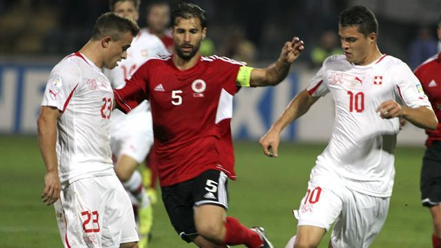 World Cup - Switzerland qualify for finals thanks to win in Albania