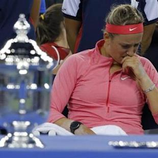 Gallant Azarenka feels pain of U.S. Open defeat once more
