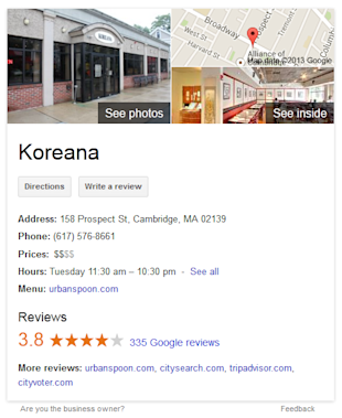 Google Shared Endorsements: Who Are the Real Winners and Losers? image google places reviews koreana