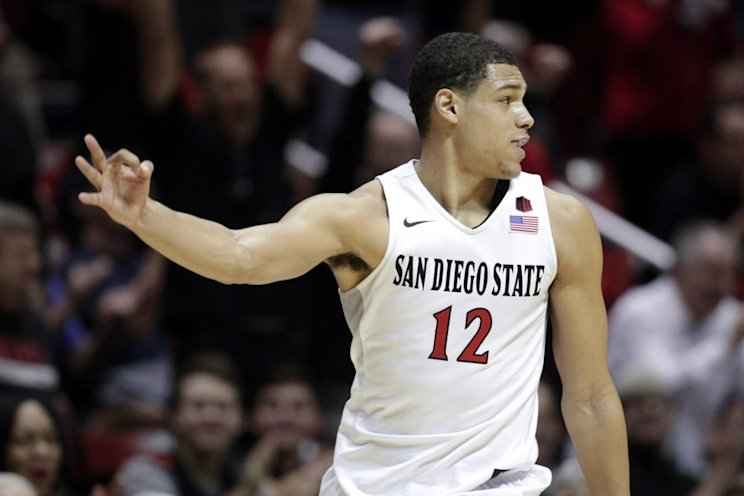 Trey Kell and San Diego State will try to help the league bounce back from last year's one-bid embarrassment. (AP)
